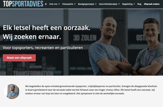 therapeut nieuwe website laten maken