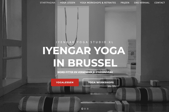 website laten maken yoga studio
