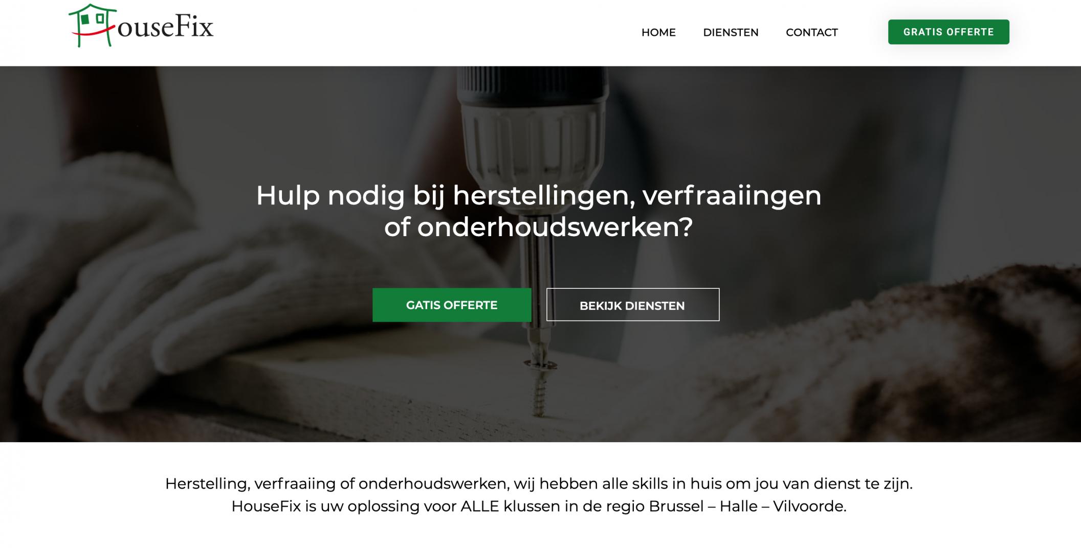 Klusjedienst aannemer website laten maken