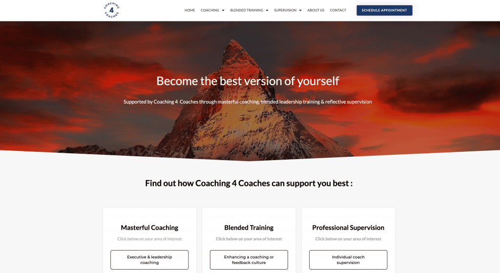 professionele website laten maken coachingpraktijk