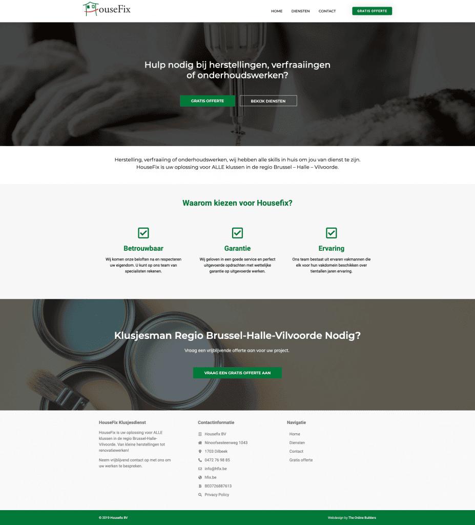 Aannemer bouw webdesign