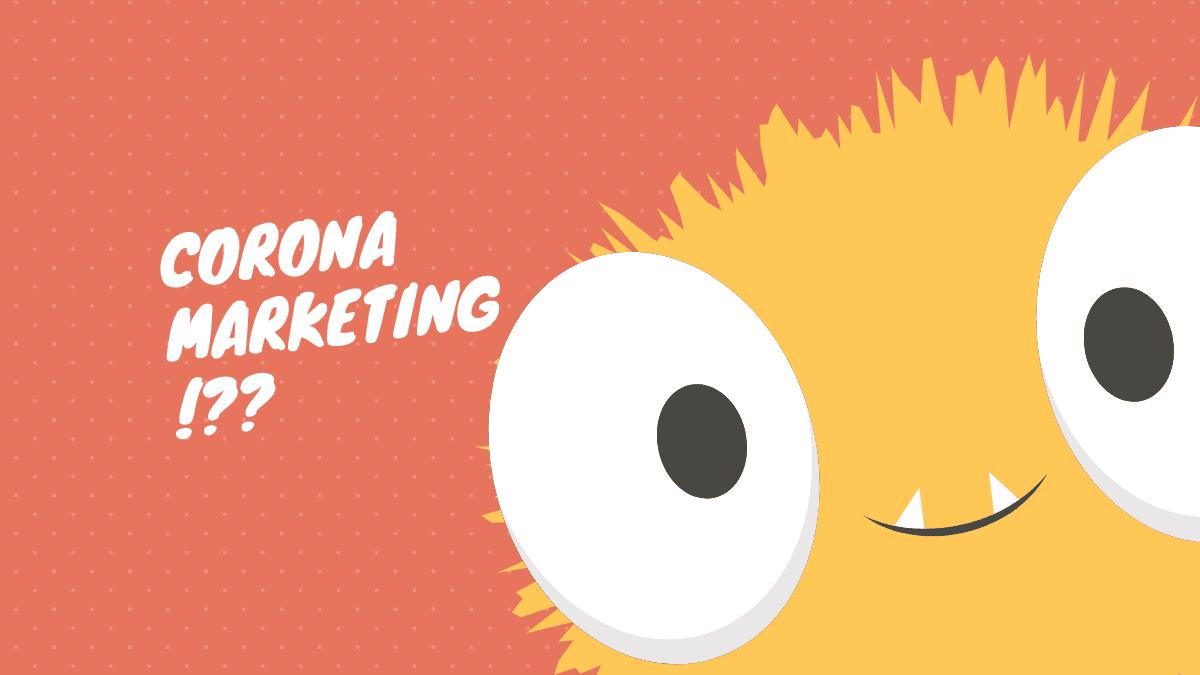 Corona Marketing facebook posts