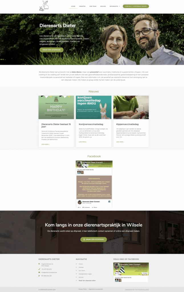 Nieuwe website dierenarts