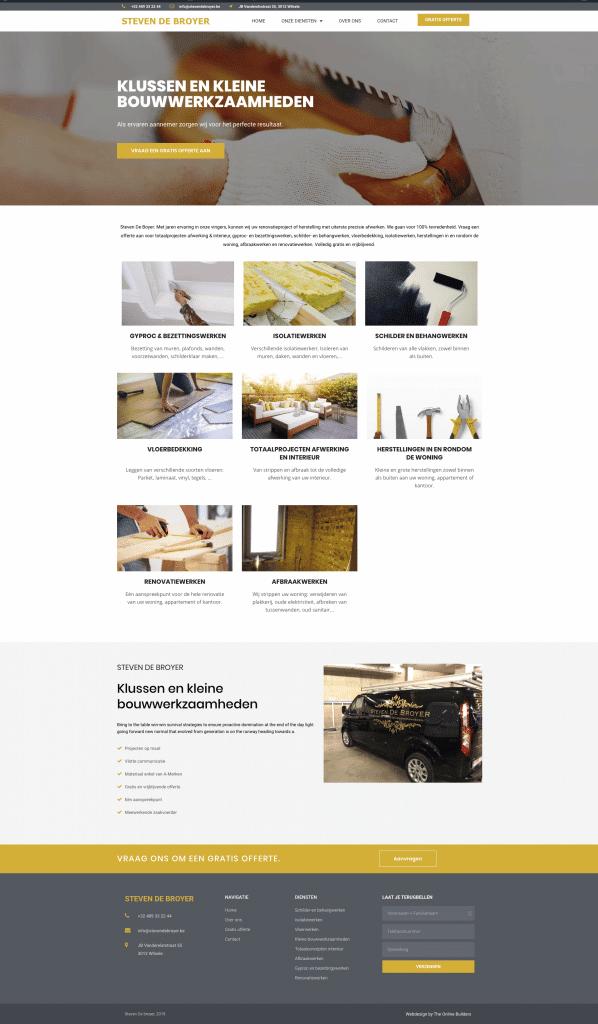 Nieuwe website maken aannemer