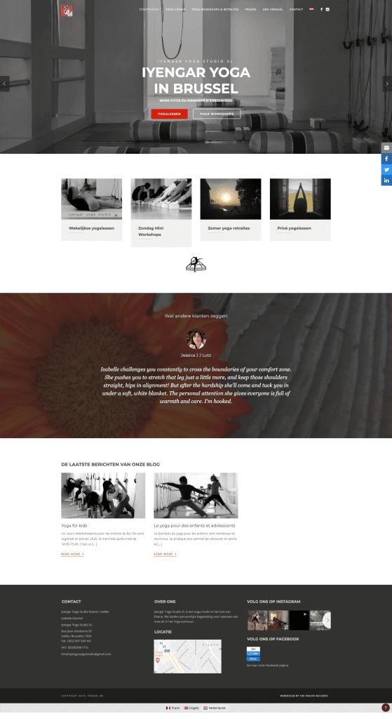 Website yoga studio maken