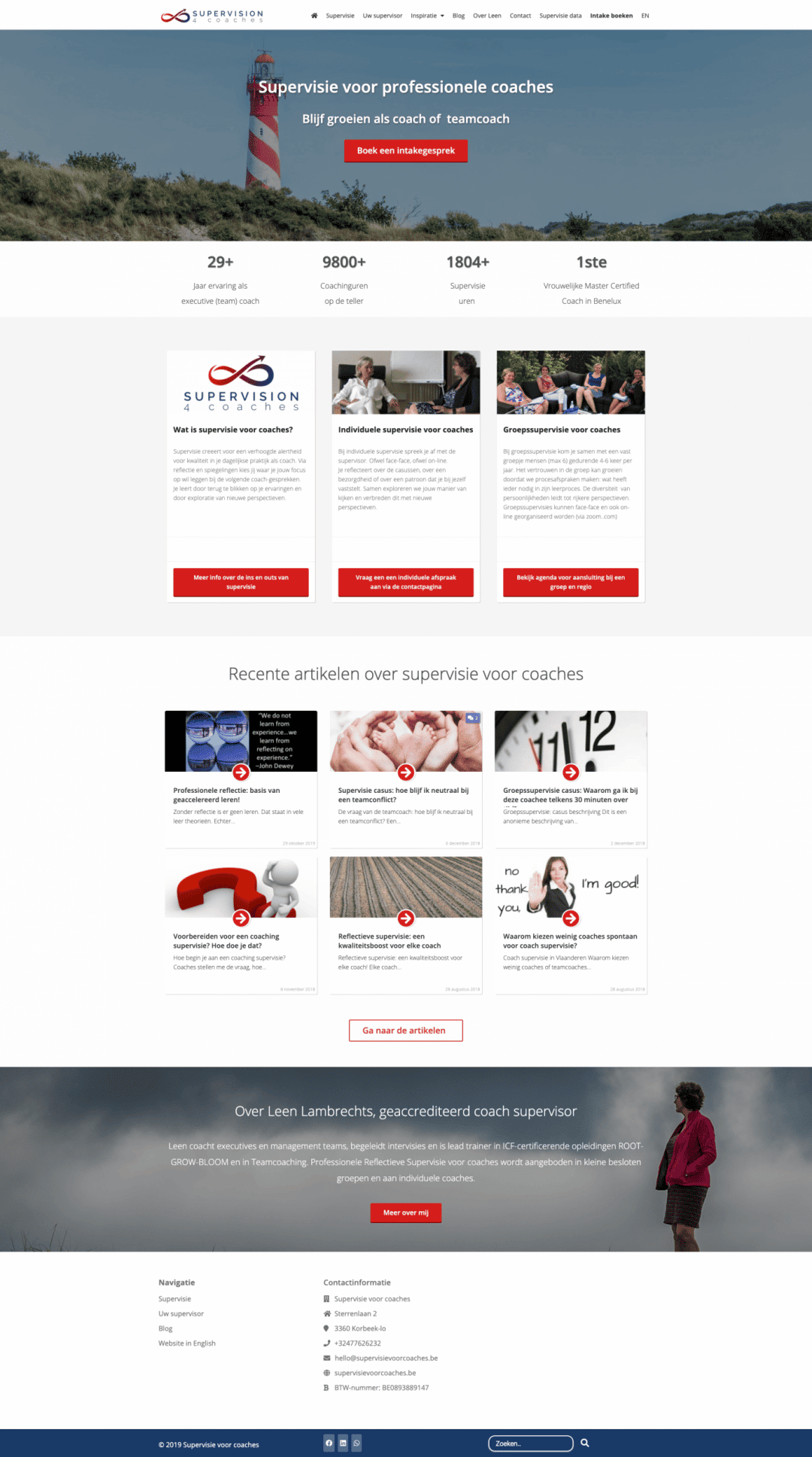 coach trainer website maken