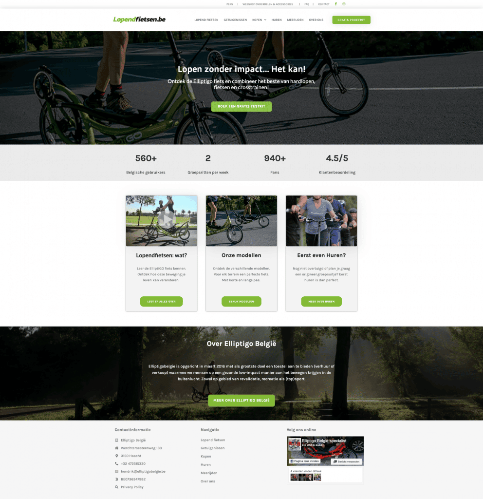 fietswebsite laten maken webdesign