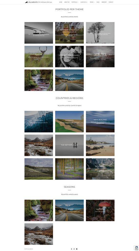 portfolio website fotograaf